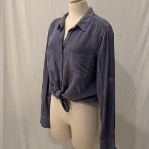 Distressed blue Rock and Republic shirt